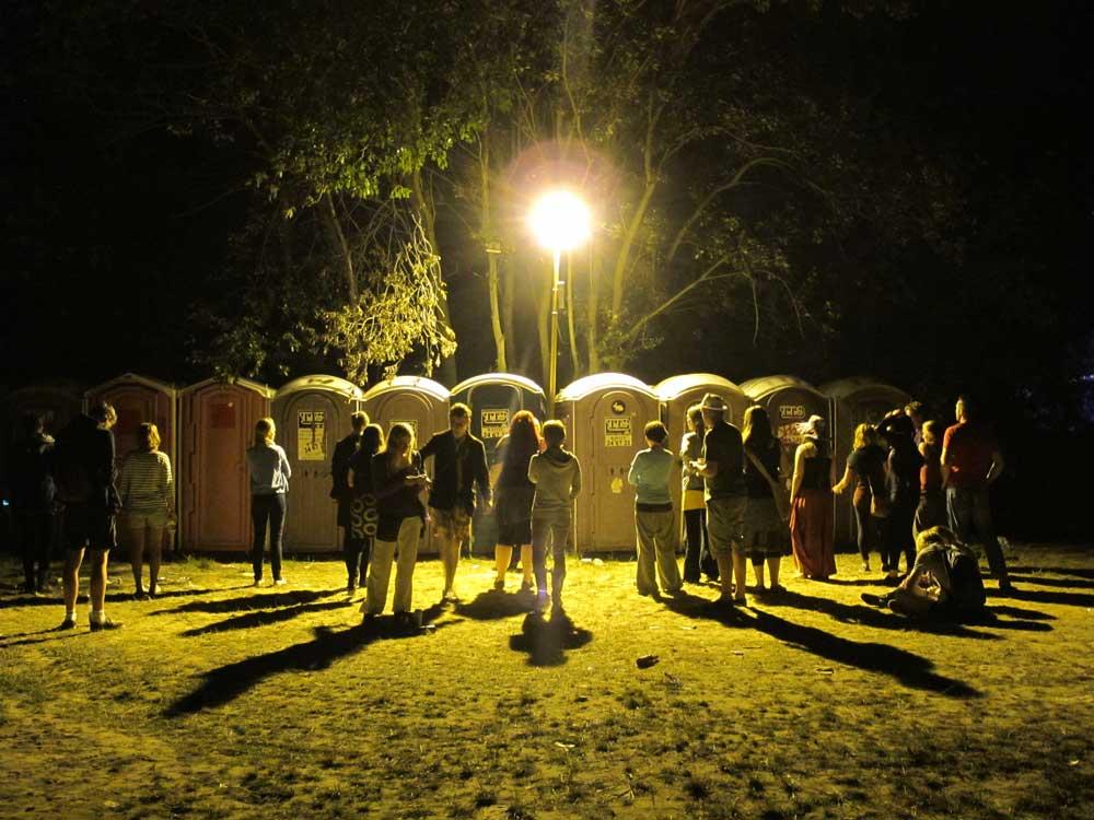 Dixi Klo auf dem Festival